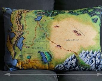 "Map of Alagaësia Faux Suede Pillow - 20"" x 14"""