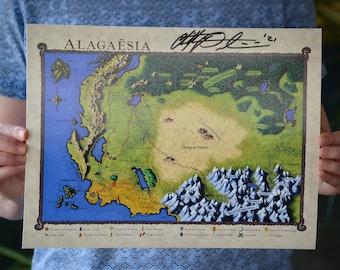 Map of Alagaësia Print - Color Barnes & Noble Edition