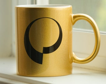 Fractalverse Metallic Gold Mug