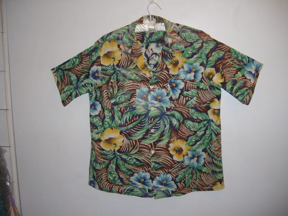 Vintage 1950's Hawaiian Cotton Shirt