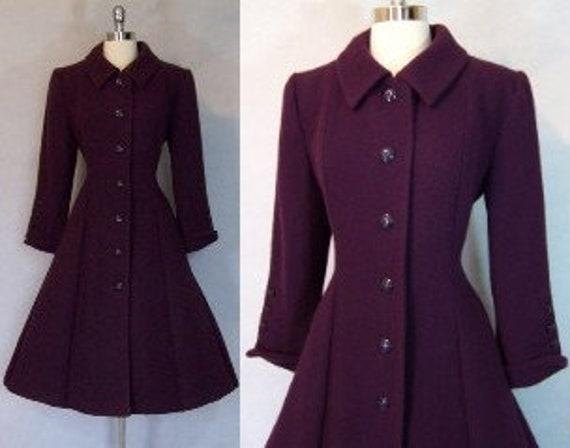 Rare 50s Purple Boucle' Wool Fit Flare WOOLRICH Pr