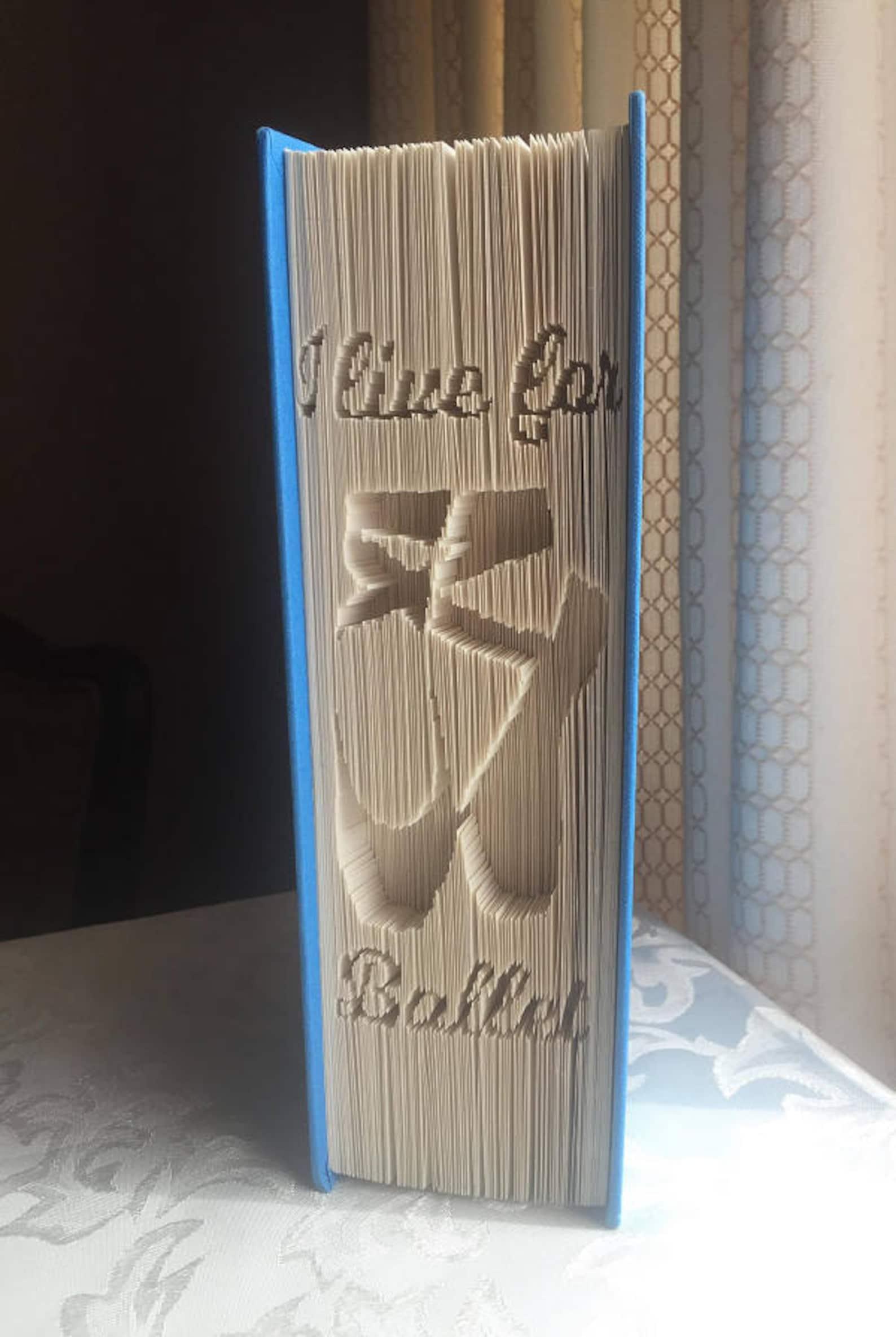 i live for ballet, ballet shoes cut & fold book folding pattern (digital download pattern only)