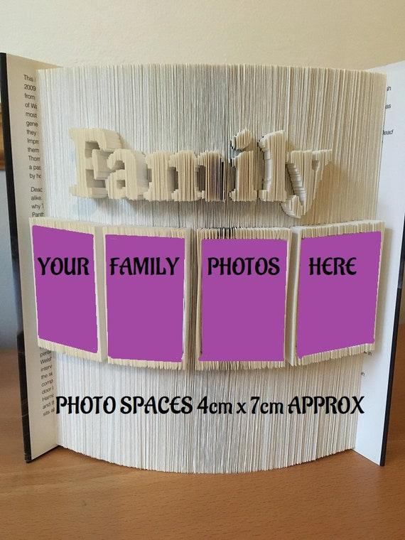 Cut /& Fold Bookfolding Pattern ONLY Family Horizontal
