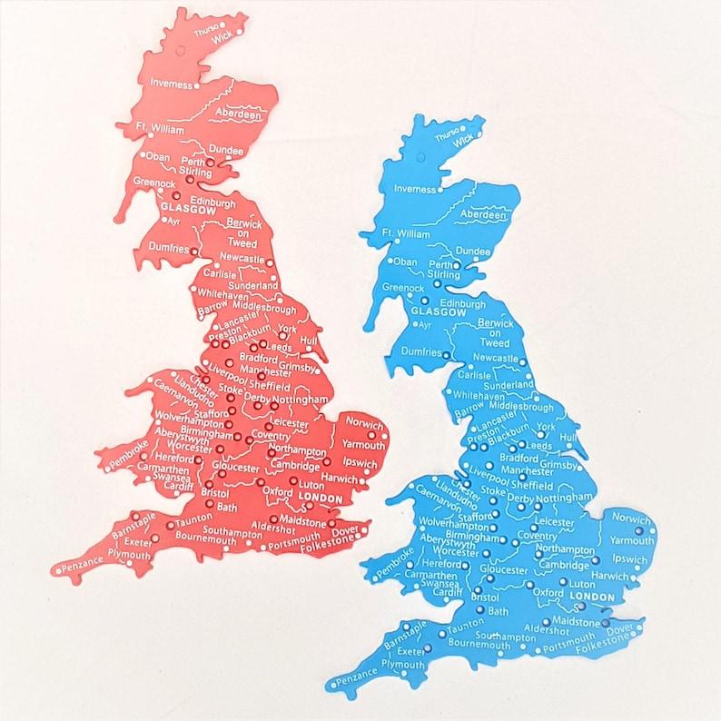 Großbritannien Karte Umriss.Uk Großbritannien Schablone Karte 1 Million Maßstab Spur Städte Flüsse 18 X 12 Cm