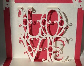 Love -  Pop-Uup Card inner