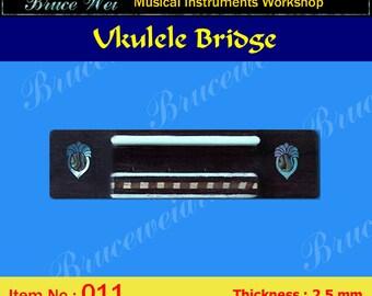 Bruce Wei, Ukulele Part - Rosewood Tenor Ukulele Bridge (011)