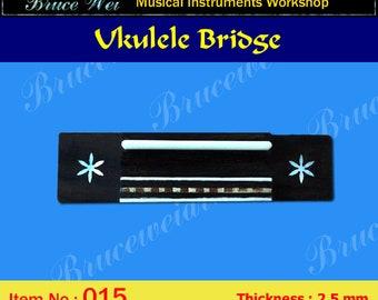 Bruce Wei, Ukulele Part - Rosewood Tenor Ukulele Bridge (015)