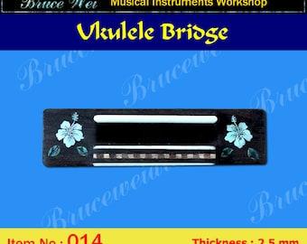 Bruce Wei, Ukulele Part - Rosewood Tenor Ukulele Bridge (014)