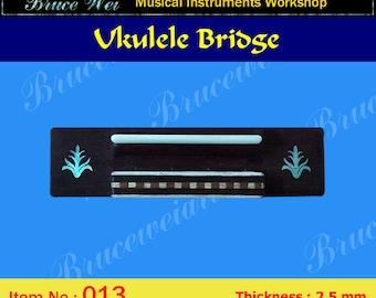 Bruce Wei, Ukulele Part - Rosewood Tenor Ukulele Bridge (013)