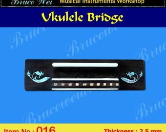 Bruce Wei, Ukulele Part - Rosewood Tenor Ukulele Bridge (016)