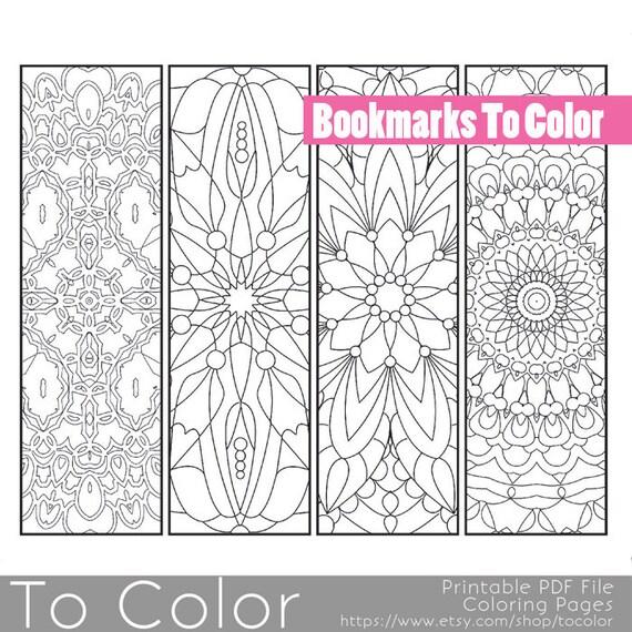 Patrón para imprimir para colorear página marcadores PDF / | Etsy