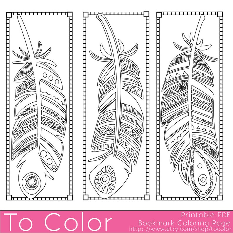 photo regarding Printable Feathers named Printable Feathers Coloring Web page Bookmarks for Grownups, PDF / JPG, Immediate Down load, Coloring E book, Coloring Sheet, Developed Ups, Electronic Stamp