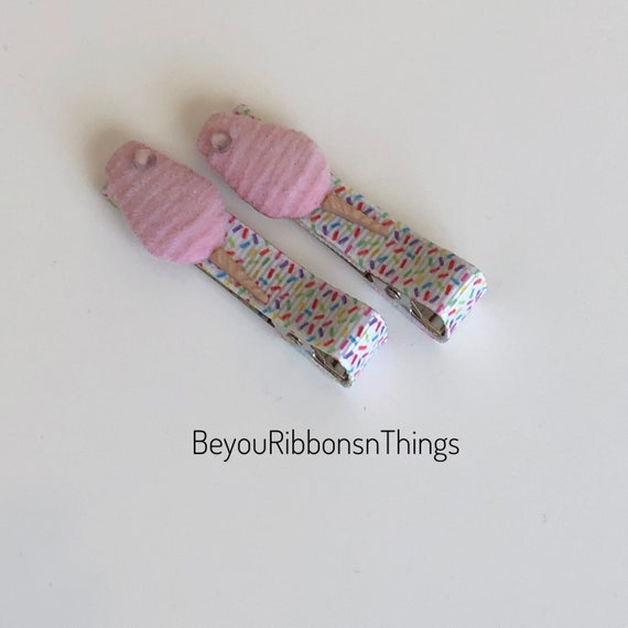 Pair Of Cotton Candy Hair Clips