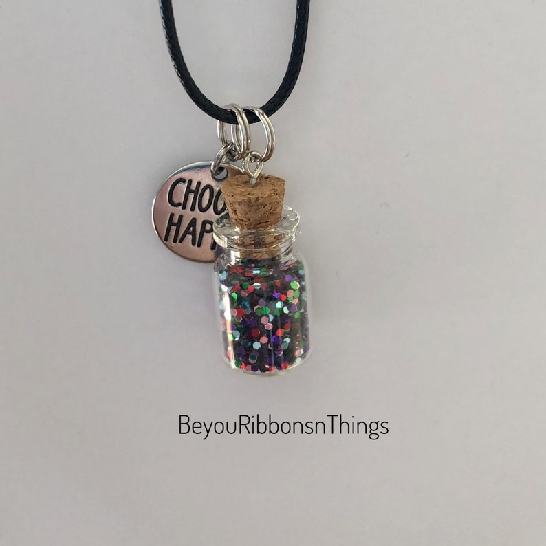 Girl Necklace Choose Happy Necklace