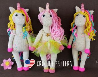 Sweet Unicorn - Horse amigurumi crochet toy pattern