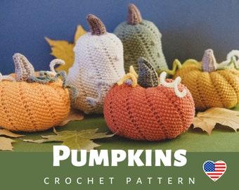 PATTERN Pumpkins crochet Halloween decor