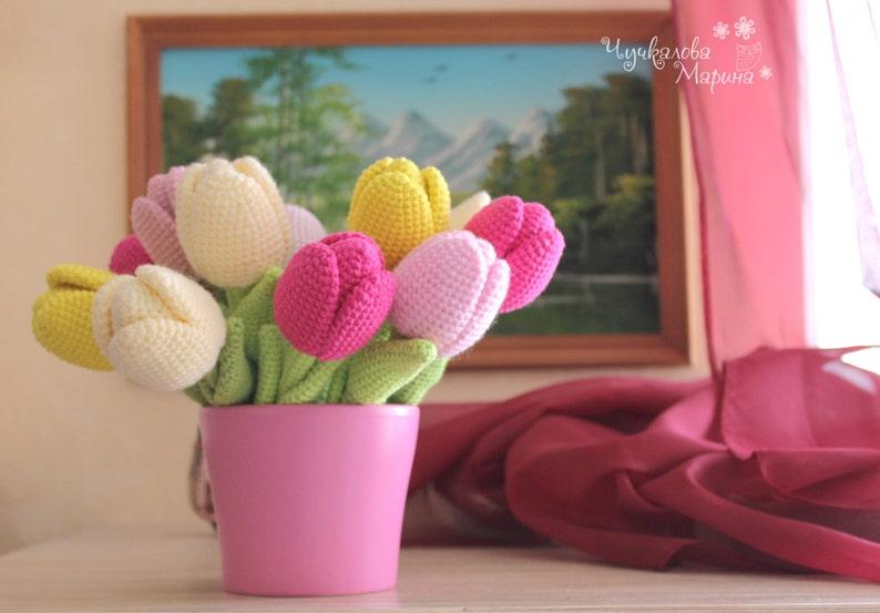 PATTERN The Tulip PDF crochet flower image 0