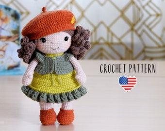 PATTERN Lola the doll - Amigurumi Crochet Toy Pattern