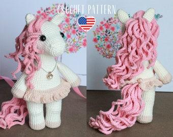 PATTERN Caramel the little pony - amigurumi crochet toy pattern