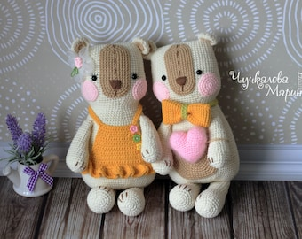 PATTERN The Bear for embrace PDF crochet toy pattern