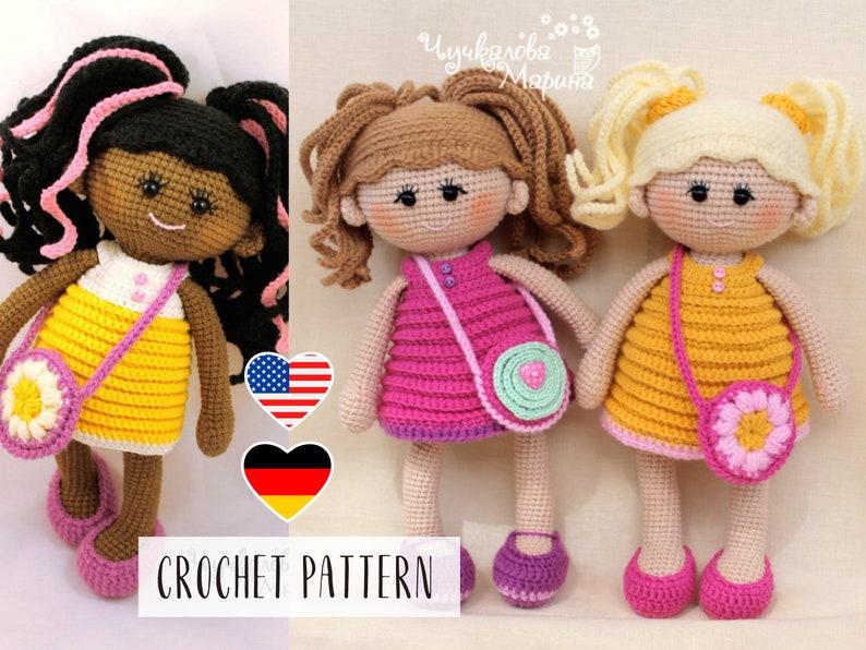 PATTERN Pamposhka doll  Amigurumi Crochet Toy Pattern image 0