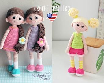 PATTERN amigurumi crochet dolls pattern - Good girls PDF