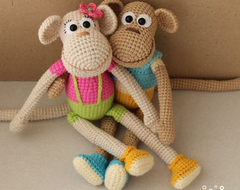 PATTERN Funny monkey PDF crochet toy pattern