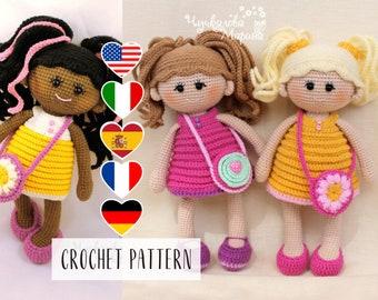 PATTERN Pamposhka doll - Amigurumi Crochet Toy Pattern