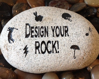 Custom / Personalized Engraved Stones - Larger Stone - 5 words or less