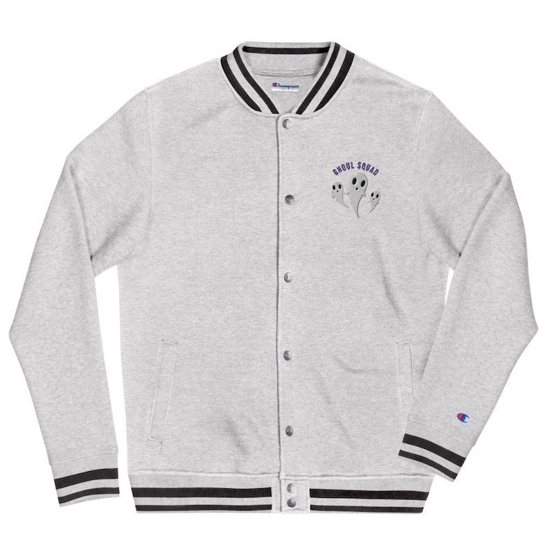 Ghoul Squad Embroidered Champion Bomber Jacket