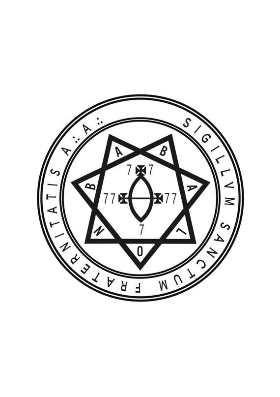 Sigillum Sanctum Fraternitatis Aa Aleister Crowley Etsy