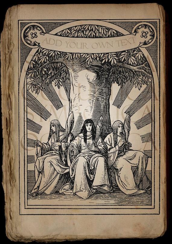 NORNS YGGDRASIL NORSE Mythology Vintage Book Clip Art ...