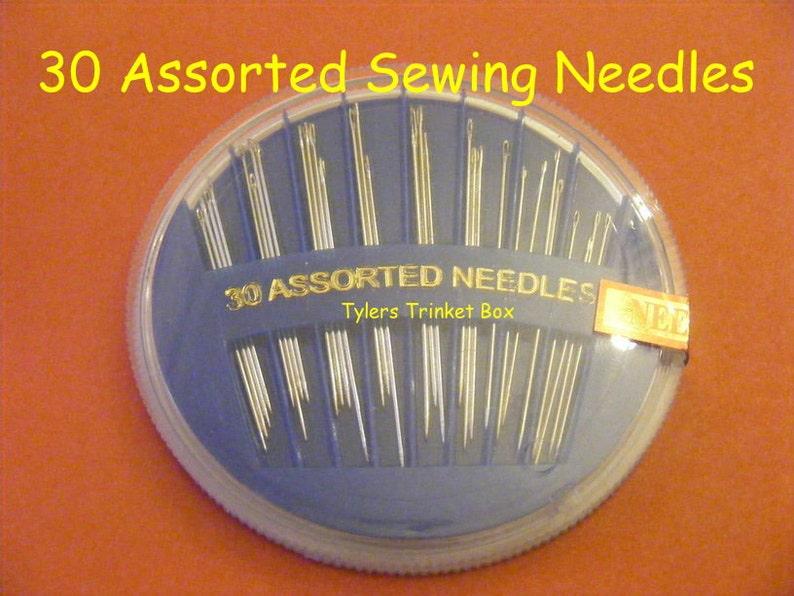 Kit de Costura Caja Color cabeza los pines 30 agujas de coser a mano en dispensadores de práctico