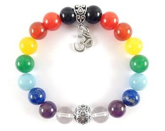 Om Gemstones Bracelet-Ohm 7 Chakra bracelet-Yoga Jewelry