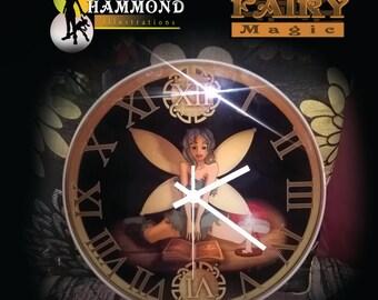 30cm Glass Fairy Candle Clock
