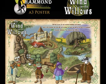 The wind in the Willows  A3 Print