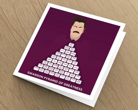 This is a photo of Ron Swanson Pyramid of Greatness Printable Version for outline