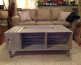 Beachy Wine Crate Coffee Table
