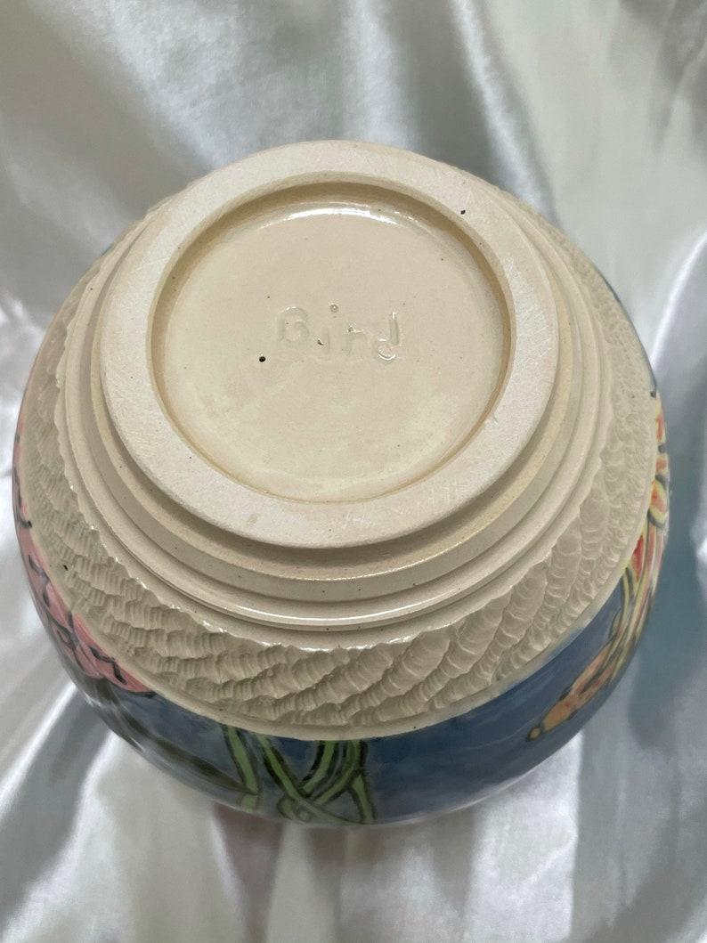 Sierra Avis Pottery Spoon Vase with Underwater Scene