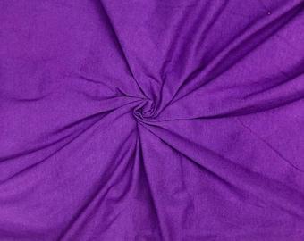 c5cedfcb0e2 Purple 10 Ounce 95 Cotton 5% Lycra jersey knit stretch fabric, sewing jersey  knit, 56