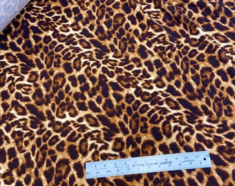 bows shirts and dresses skirts wraps headbands Liverpool Fabric 2 way stretch knit Liverpool leopard cheetah animal Fabric for masks