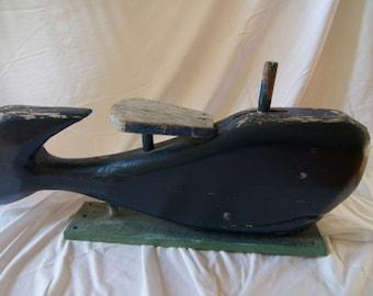 Grand primitif sculptée baleine - baleine à bascule