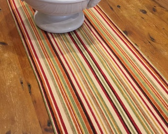 Table Runners, All Sizes: 100cm   300cm X 39cm, Rustic, Earthy Coloured  Stripes