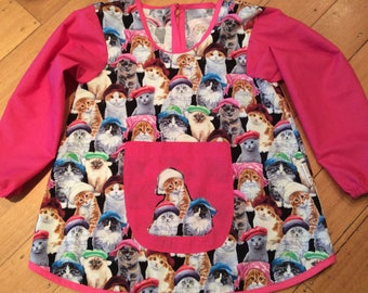 Custom Made Art Smock/Apron With Sleeves, Chose Colour And Material Design, Quality Hand Made