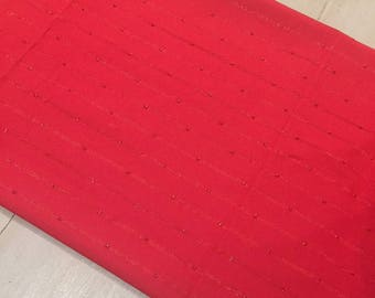 Christmas/Wedding Table Runners,  Red with Red Metallic Stripe Thread, Quality Hand Made!