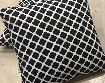 Cushion Covers, Black and White, Quality Upholstery Cotton, Hand Made, Various Sizes