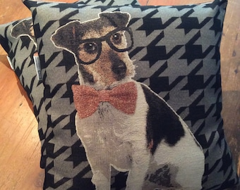 Fun Jack Russell Dog 48cm x 48cm Cushion Cover, Quality Hand Made