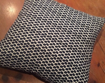 Black and White Small Leaf Pattern Cushion Cover, Various Sizes, Cotton, Quality Hand Made