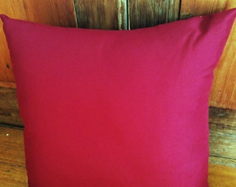 Burgundy Colour Soft Microfibre Cushion Cover 40cm x 40cm