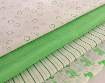 Lime/Apple Green Baby Wrap, Blanket, Swaddle 100 cm x 120 cm, Bubbles Pattern,Soft 100% Cotton